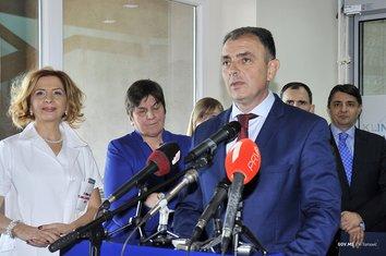 Kenan Hrapović, otvaranje Klinike za neurologiju KCCG