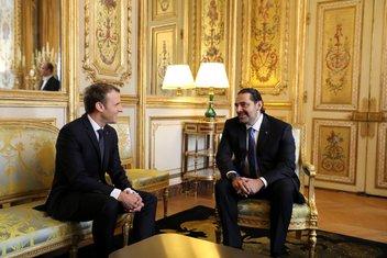 Emanuel Makron, Saad Hariri