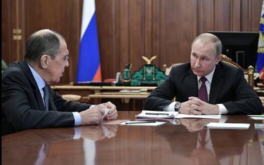 Lavrov i Putin na današnjem sastanku