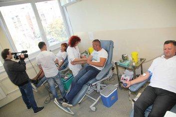 Dobrovoljno davanje krvi, pivara Trebjesa