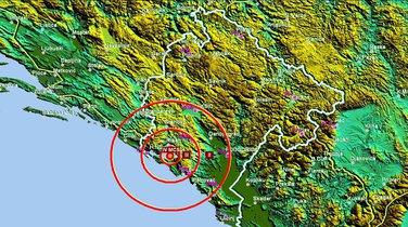 Zemljotres, Tivat