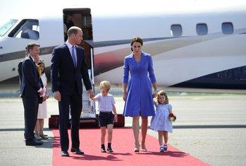 princ Vilijam, princeza Kejt, Angela Merkel