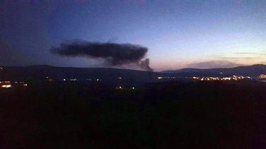 Dim od paljenja guma iznad Lovćena
