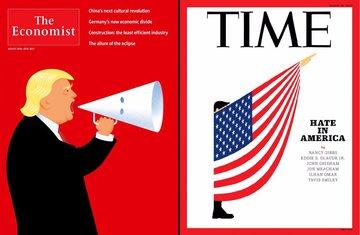 Donald Tramp, naslovnice, Ekonomist, Tajm