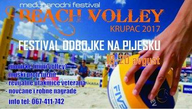 međunarodni Festival odbojke na pijesku, Krupac 2017