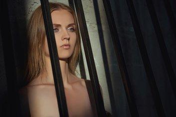 žena, kavez, djevojka