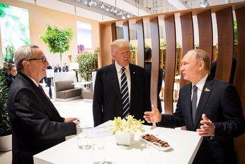 Žan-Klod Junker, Donald Tramp, Vladimir Putin