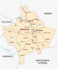 Kosovo mapa