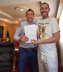 Dragan Krapović, potpisivanja aneksa za Sea Dance
