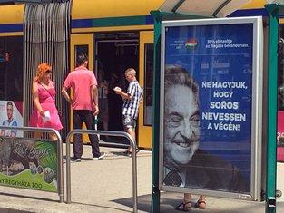 Mađarska, poster Džordž Soroš