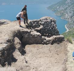 arheolozi, Gradina