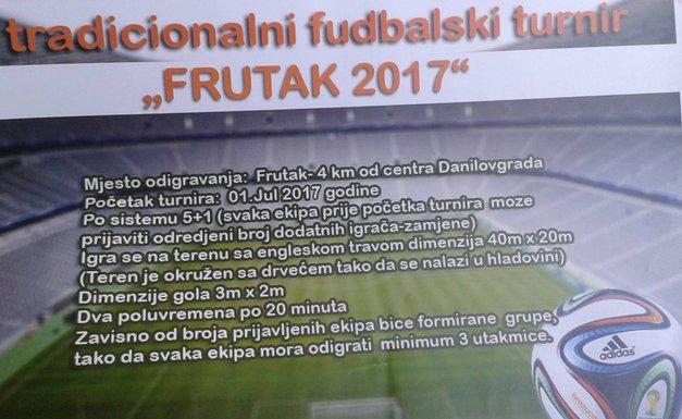 """Frutak 2017"" turnir u malom fudbalu"