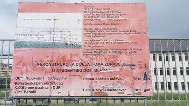 rekonstrukcija Studentski dom Berane