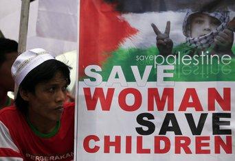 Indonezija, Palestina, protest
