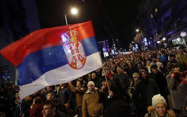 Detalj sa jednog od protesta u Beogradu