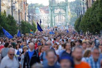 protest Budimpešta
