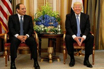 Abdel Fatah el Sisi, Donald Tramp