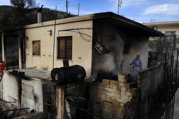 Grčka, požar