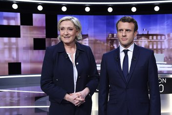Marin Le Pen, Emanuel Makron