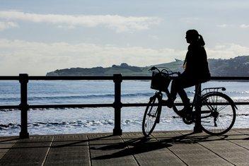 biciklo, žena