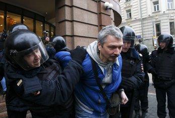 Moskva, protesti, hapšenje