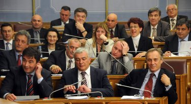 Demokratski front, opozicija