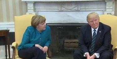 Angela Merkel, Donald Tramp