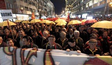 protest, Skoplje