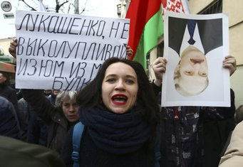 Bjelorusija, protest