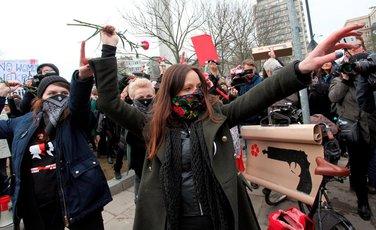 Poljska, žene protest