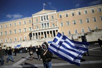 Grčka protest, farmera