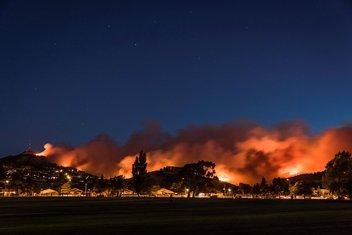 Novi Zeland, požar