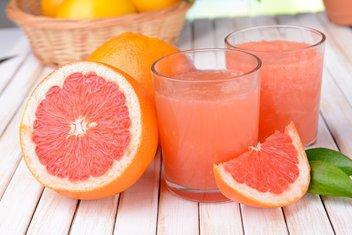 grejp, pomorandža, sok