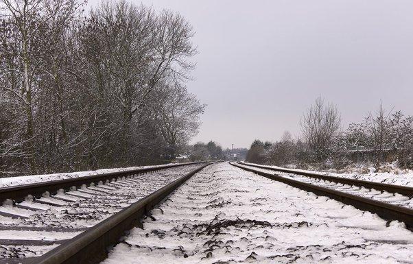 pruga, snijeg