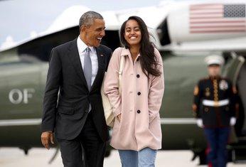 Malia i Barak Obama