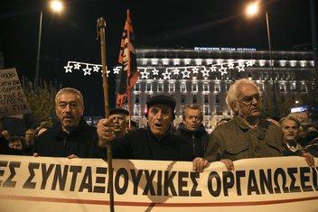 protest penzionera, Grčka