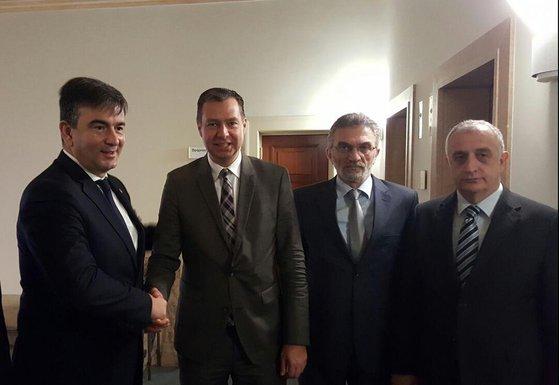Nebojša Medojević, Štefan Majer. Strahinja Bulajić, Predrag Bulatović