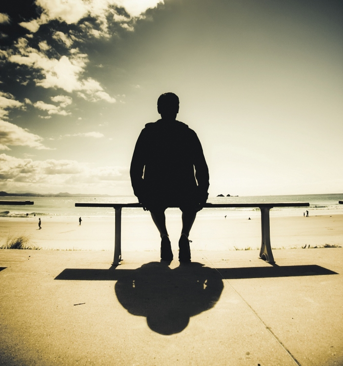 samoća, plaža, odmor