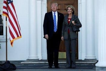 Donald Tramp i Betsi DeVos