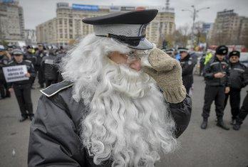 protest policajaca, Bukurešt