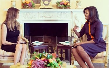 Mišel Obama, Melania Tramp