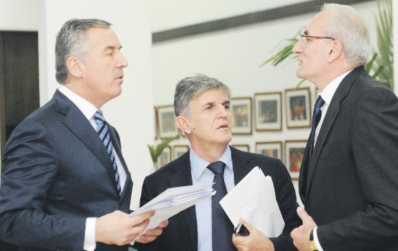 Milo Đukanović, Svetozar Marović, Tarzan Milošević