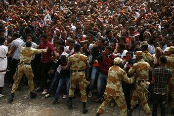Etiopija antivladin protest