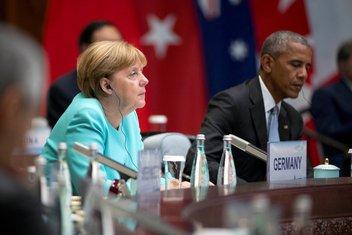 Angela Merkel, Barak Obama