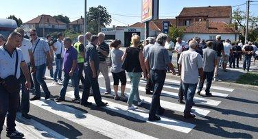bivši radnici KAP-a blokada Cetinje