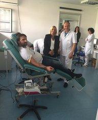 Azra Jasavić, dobrovoljno davanje krvi
