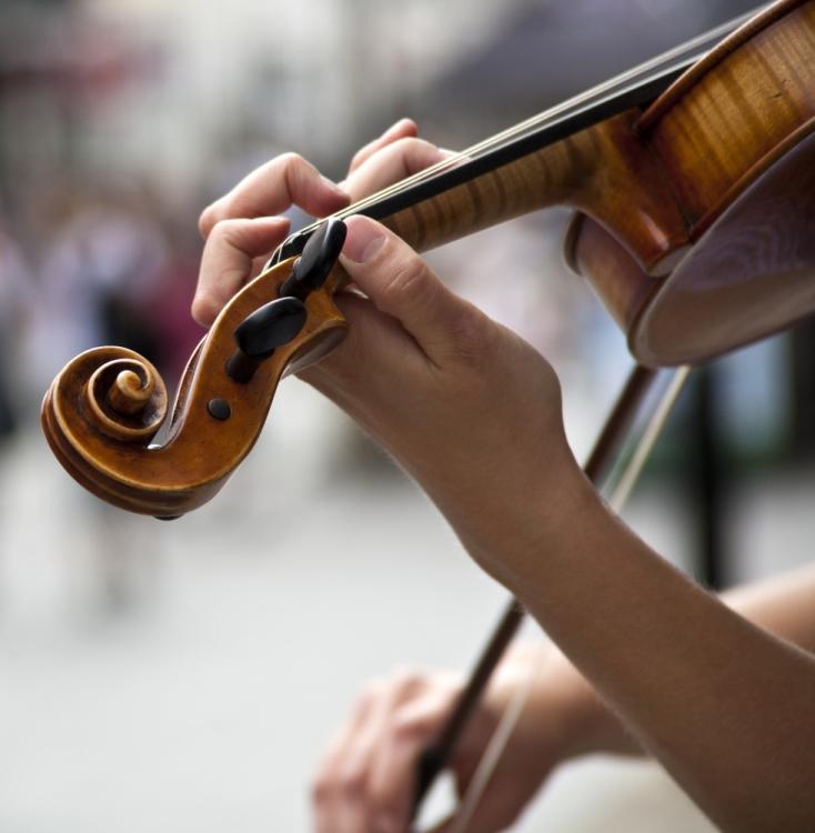 ulični svirač, violina