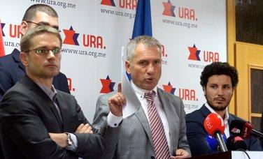 URA, Neđeljko Rudović, Žarko Rakčević, Dritan Abazović
