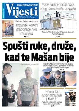 """Naslovna strana """"Vijesti"""" za 9. februar"""
