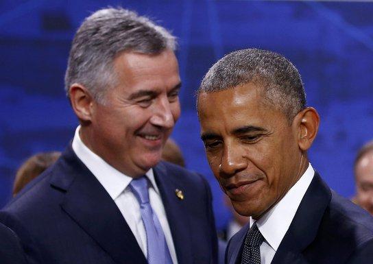Barak Obama, Milo Đukanović